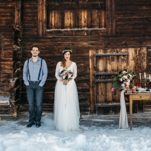 décoration florale de mariage en hiver