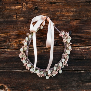 fine art floral wreath