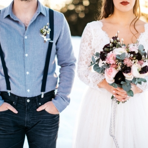 bouquet de mariée mariage d hiver
