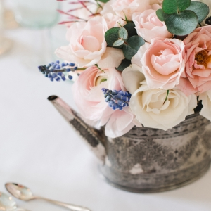 fine art floral centerpiece luxury wedding
