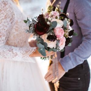 fine art bride bouquet