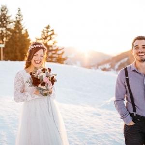 fine art winter wedding