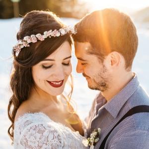 couronne de mariée mariage hiver