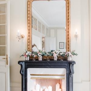 decor floral cheminee hotel de luxe