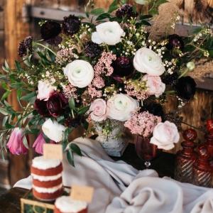 fine art wedding floral decor