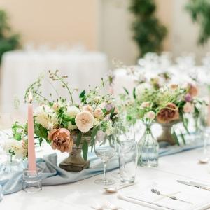 Centre de table fleuri, mariage Suisse