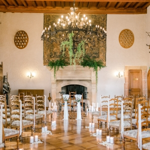 Decor floral ceremonie civile chateau en Suisse