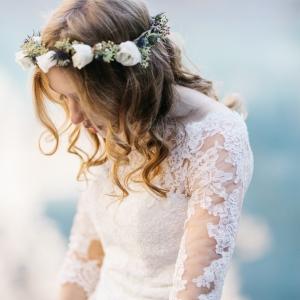 couronne de fleurs de mariée, genève