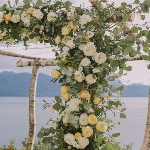 details arche florale sur mesure