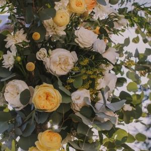 Chuppah Floral design details