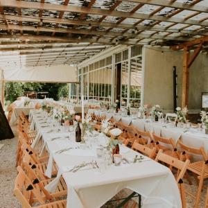 boho style floral decor for a wedding