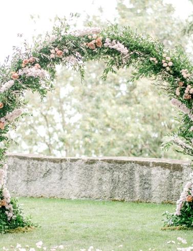 Arche florale  mariage Genève Suisse